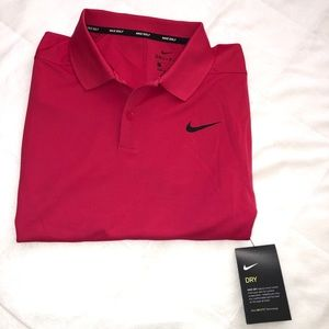 NWT -Nike dri-fit polo-Hot Pink (L)